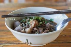 Étoffez la soupe de nouilles de la Thaïlande Photographie stock libre de droits