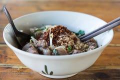 Étoffez la soupe de nouilles de la Thaïlande Photographie stock