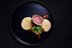 Étoffez Wellington, bifteck classique, restaurant de viande images stock