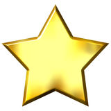 étoile 3D d'or Photos stock