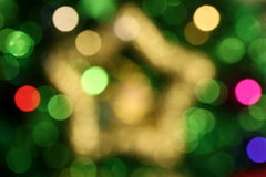 Étoile abstraite Bokeh 1 de Noël Photos libres de droits