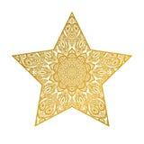 Étoile abstraite mandala fleuri Image libre de droits
