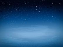 Étoile au ciel de nuit Photos stock