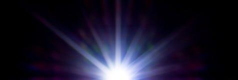 Étoile au néon beaucoup de rayons Images stock