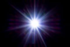 Étoile au néon beaucoup de rayons Photo libre de droits