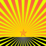 Étoile avec des reys Images stock