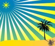 Étoile avec des reys Photo libre de droits