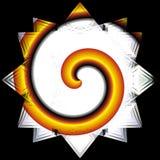 Étoile avec la spirale Photos libres de droits