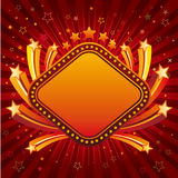 étoile avec le cadre de signe au néon Image libre de droits