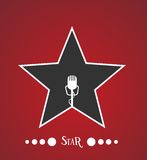 Étoile avec le microphone Photo libre de droits