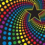 Étoile avec le remous d'arc-en-ciel Photos libres de droits