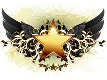 Étoile avec les éléments fleuris illustration libre de droits