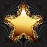 Étoile avec les éléments floraux illustration libre de droits