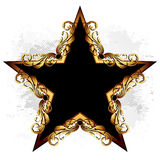 Étoile avec les éléments floraux illustration de vecteur