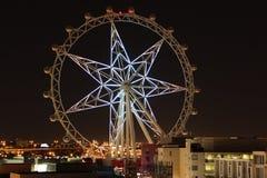 Étoile blanche lumineuse de Melbourne dans l'obscurité de lancement photographie stock