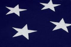 Étoile blanche sur l'indicateur américain Photos libres de droits