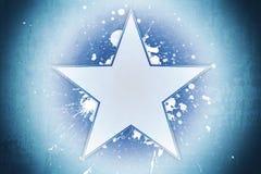 Étoile bleue Images libres de droits