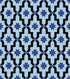 Étoile bleue de vintage de mosaïque arabe de modèle images stock