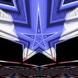 Étoile bleue image libre de droits