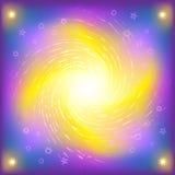 étoile brillée de spirale de l'espace illustration stock