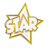 Étoile brillante Image libre de droits
