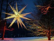 Étoile brillante au ` de Wallanlagen de ` de parc à Brême, Allemagne Photographie stock libre de droits