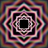 Étoile brillante mystique avec des aberrations et des étincelles Image libre de droits