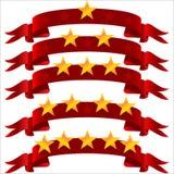 Étoile cinq sur la bande Photographie stock libre de droits