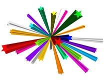 Étoile colorée Images stock