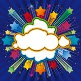 étoile colorée d'explosion Images stock