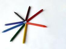 Étoile colorée de crayons Photos stock