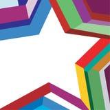 Étoile colorée de fond Image libre de droits