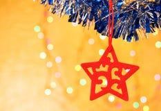 Étoile décorative de Noël Photographie stock libre de droits