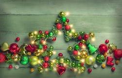 Étoile décorative de Noël photographie stock