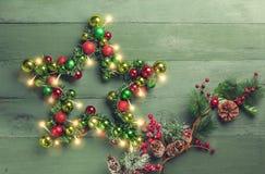 Étoile décorative de Noël photos stock