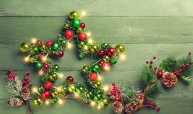 Étoile décorative de Noël image stock