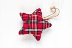 Étoile décorative de tissu Photo stock