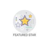 Étoile décrite meilleur Mark Icon préféré Photographie stock libre de droits