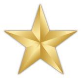 Étoile d'or Photos libres de droits