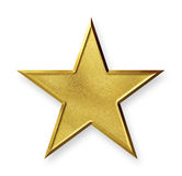Étoile d'or Photographie stock libre de droits