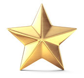 Étoile d'or illustration stock