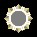 Étoile d'argent d'icône de récompense de médaille Photos libres de droits