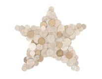 Étoile d'argent - dans les pièces de monnaie australiennes Photographie stock libre de droits