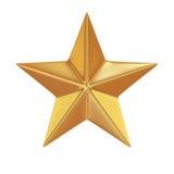 Étoile d'or d'isolement sur le fond blanc Photographie stock