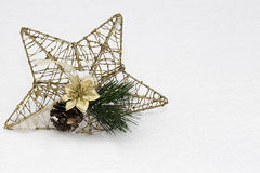 Étoile d'or de Noël Photo libre de droits