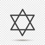 Étoile d'icône de vecteur de deux triangles Illustration d'un five-poin illustration de vecteur