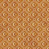 Étoile d'orange et de blanc et Ba de Crescent Symbol Tile Pattern Repeat Image libre de droits