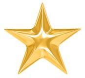 Étoile d'or sur le fond blanc Image stock