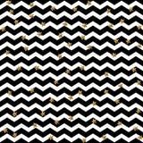 Étoile d'or tombant sur le fond de zigzag La célébration de confettis, décoration abstraite d'or pour la partie, anniversaire cél Image stock