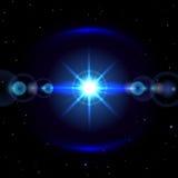 Étoile dans l'espace bleu illustration stock